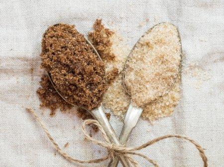 Muscovado and demerara  sugar