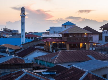 Architecture and typical roofs in Stone Town