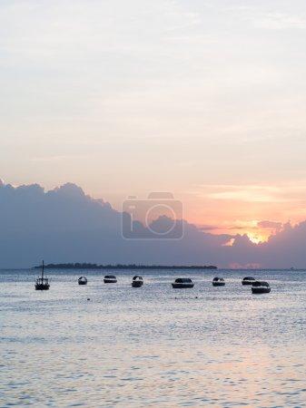 boats on open sea on Indian Ocean