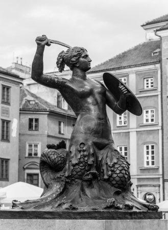 mermaid sculpture, Warsaw
