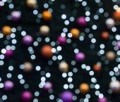 """Постер, картина, фотообои """"Затуманенное красочные рождественские огни"""""""