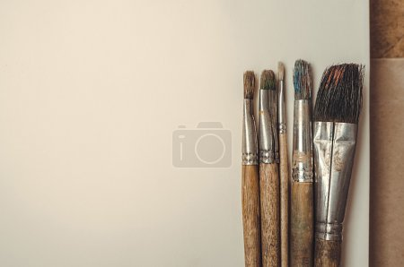 brush on paper