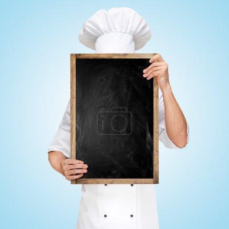 The menu chalkboard.