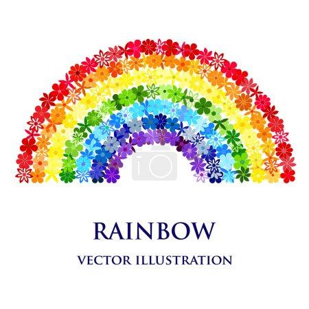 Floral rainbow mosaic