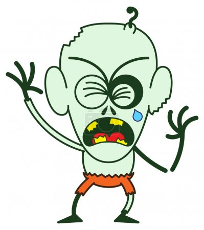 Cute Zombie crying