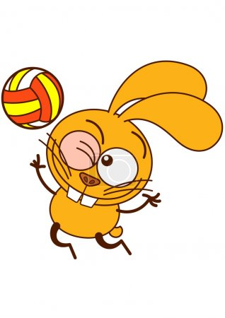 Bunny while playing volleyball