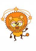 Lion  feeling dizzy