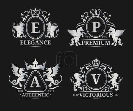 Luxury monograms set