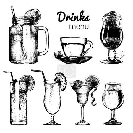 Drinks menu set