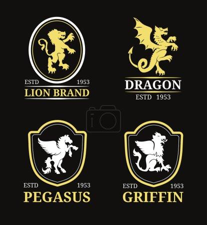 monograms animals logos templates