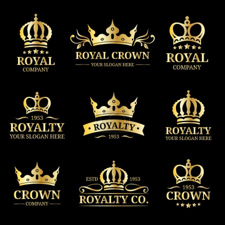 Crowns vintage monograms set