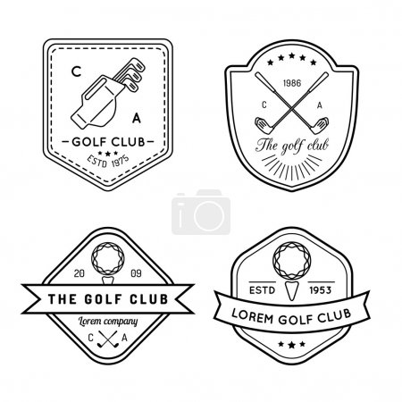 golf logos set