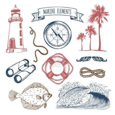 Vintage nautical adventures set