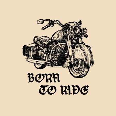 Chopper motorcycle logo