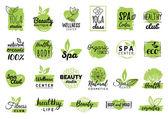 health and beauty care logo set