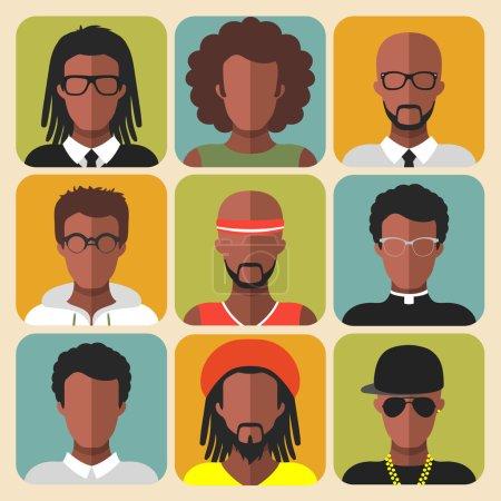 Photo pour Ensemble vectoriel de différentes professions homme icônes dans le style plat à la mode - image libre de droit