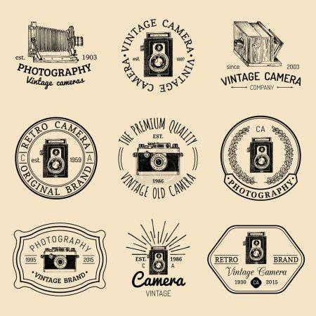 Vintage photography elements set.