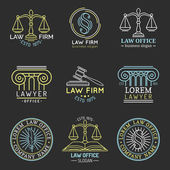 Law office logo set.