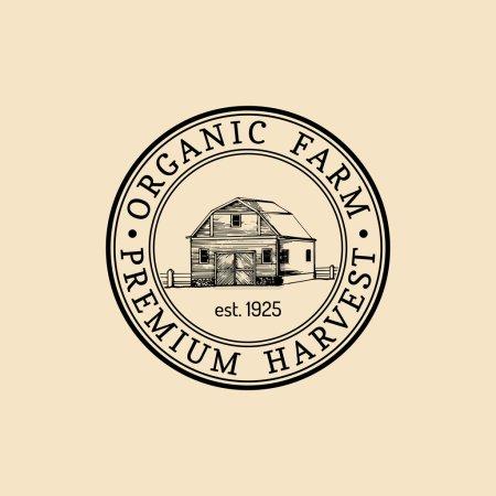 retro farm fresh logotype.