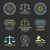 Law logos Attorney signs