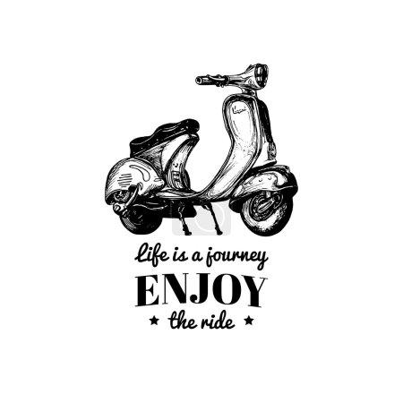 vintage scooter poster.