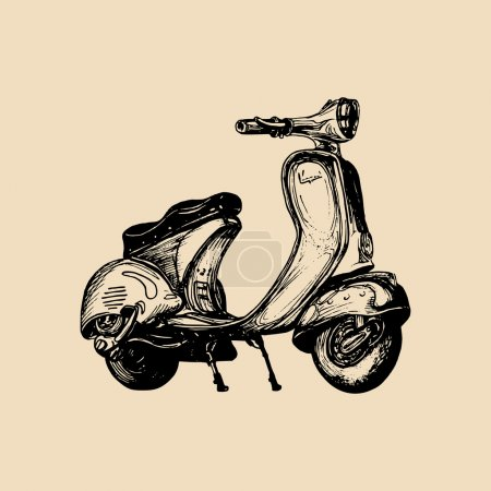Vintage scooter icon