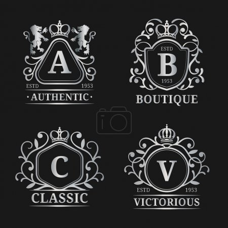 Monogram logo templates.