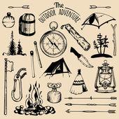 Camp elements Camp logos