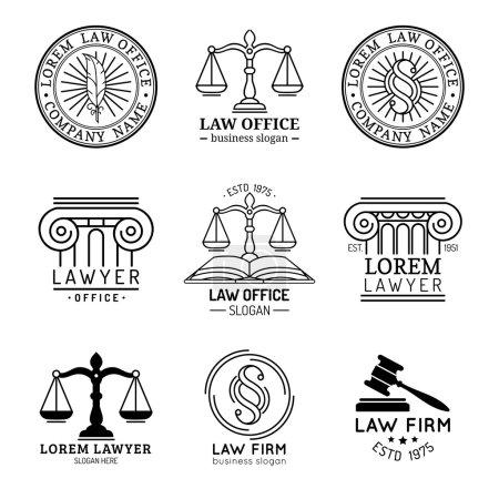 Law office logo set.