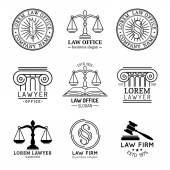 Law office logo set