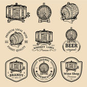 Alcohol Wooden barrels set