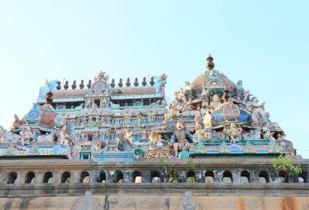gopuram lake and water tank in Thillai Nataraja Temple,chidambar