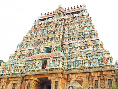massive ancient temple complex chidambaram tamil nadu india