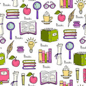Pattern on the theme of books and education