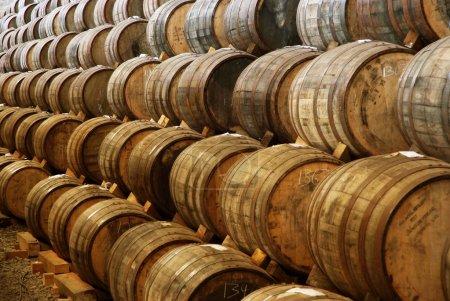 A wine barrels