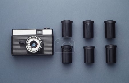 Photo Camera and camera film roll