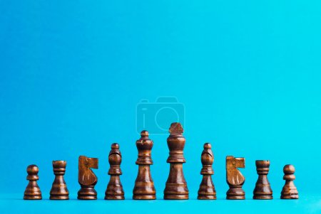 Wooden chess figurines