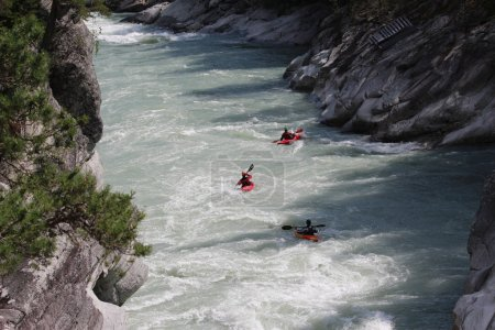 Kayaking on the Sjoa river in Norway.