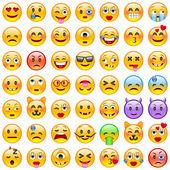 Set of Emoticons Set of Emoji Smile icons Isolated vector illustration on white background