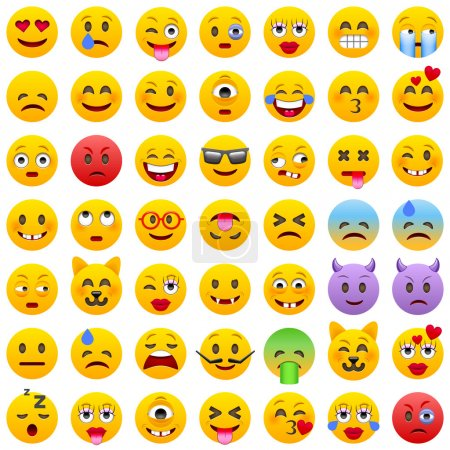 Set of smile Emoticons.