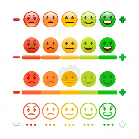 Feedback Emoticon bar set