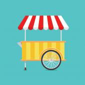 Retro vector ice cream cart