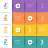 Modern infographics element