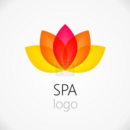 Lotus flower abstract logo