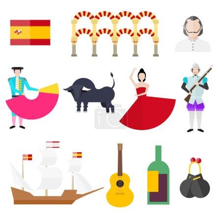 Spanish symbols set