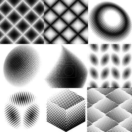 dots abstract patterns set