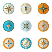 Wind rose compass icons