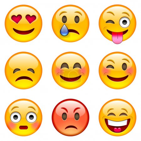 Set of Cartoon Emoticons