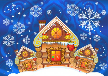 house snow Russian hut ivillage