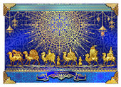 template the tradition of Kazakh Silk Road